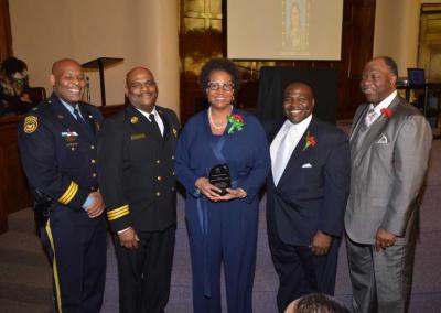 Deptuy Chief Tyrone Garner, Assitant Chief Morris Letcher, Mrs. Angela Hobson-Hamilton, Judge Timothy Dupree, Rev. Robert Milan Jr.