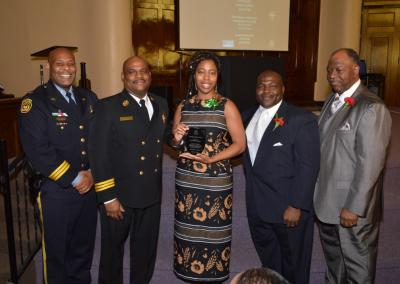 Deptuy Chief Tyrone Garner, Assitant Chief Morris Letcher, Ms. NaToyia Wilson, Judge Timothy Dupree, Rev. Robert Milan Jr.