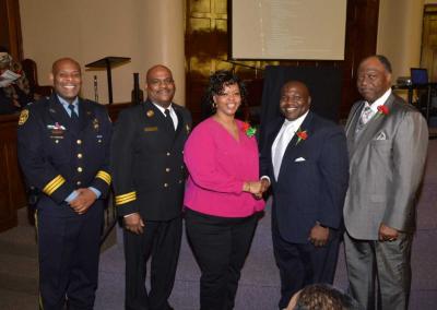 Deptuy Chief Tyrone Garner, Assitant Chief Morris Letcher, Ms. Teia Bennett, Judge Timothy Dupree, Rev. Robert Milan Jr.