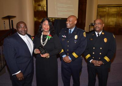 Judge Timothy Dupree, Dr. Minnie Adams, Deptuy Chief Tyrone Garner, Assistant Chief Morris Letcher